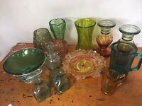 Wedding Vase Assortment - Greens & Oranges