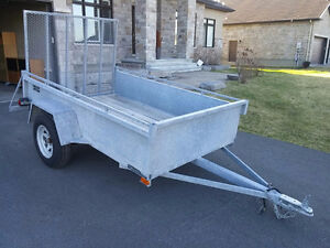 Like New Galvanized 5' X 8' ft Utility Trailer for sale