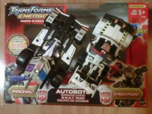 TRANSFORMERS ENERGON S.W.A.T. TEAM SWAT PROWL & CHECKPOINT MIB