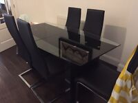 Barker & stonehouse glass dining table