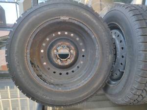 16 Inch Winter Tires plus rims - BF Goodrich KSI 195/65R15 91S