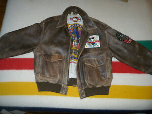 Vintage mens Mickey Mouse leather jacket
