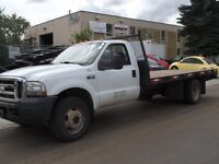 2003 FORD F-550 4x4 AUTO FLAT BED TRUCK  FOR SALE.