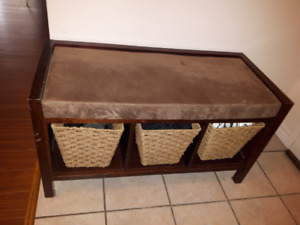 3 Cube Storage Bench with Cushion
