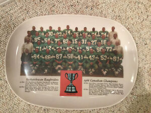 1966 Saskatchewan Roughrider Team Plate