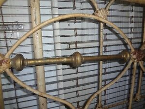 Very Rare Over 100 years old Cast Iron Bed