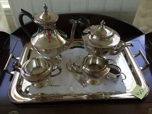 Silver Plate Tea Service with Tray