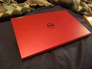 13'' Red Dell Laptop/Tablet 4 GB With Charger $245 firm