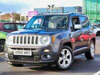 2016 Jeep Renegade 1.4 Multiair Limited 5dr DDCT Auto 4x4 Petrol Automatic
