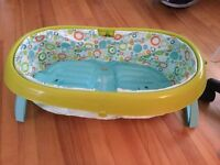 Space saver baby tub