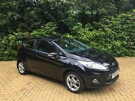 2012 Ford Fiesta 1.25 Zetec Black Manual One Owner Car from New Full History