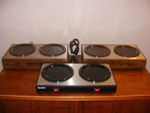 THREE (3) USED BUNN DUAL COFFEE WARMERS