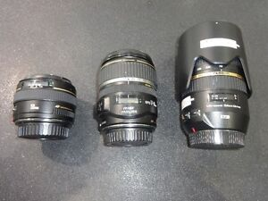 Canon Camera Lens Lot - Prices Vary - USED