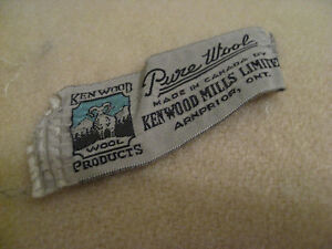 1940's All Wool 100% Cream Colored Blanket Quilt