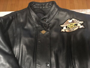 Harley Davidson Ladies Boots and Jacket.  Like New.