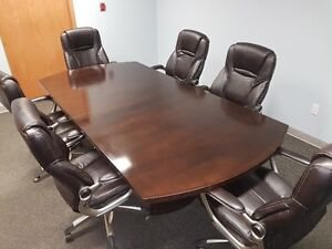 Board Room table and 6 office chairs.