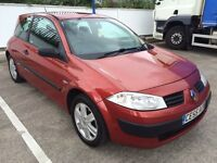 2005 RENAULT MEGANE 1.4 ONLY 64,000 CAMBELT REPLACED, LONG MOT