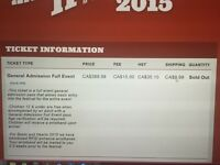 Boots and hearts full admission tickets