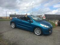 2008 08 Peugeot 207 CC 1.6 16v 120 Coupe GT (65000 miles, full service history)