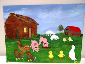 Southern FOLK ART ANGIE DEMING Canvas Board GEORGIA primitive Oakville / Halton Region Toronto (GTA) image 10