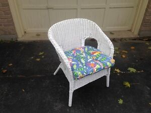 Whicker Chair With Cushion