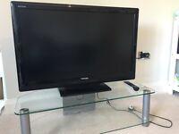 TV stand - glass & chrome