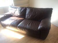 Real lether sofa for sale, free delivery 30miles