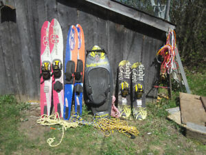 Nice selection of Waterskis and Boards