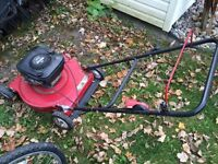 Two lawn mowers & snowblower
