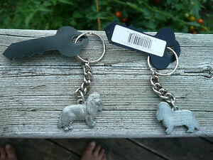 Cavalier King Charles Spaniel keychain, Cavalier pewter key ring