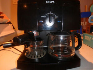 Krups Coffee Maker and Cappuccino Machine - Used Once