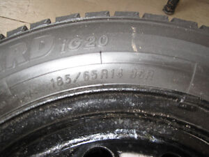 GREAT DEAL! - 4 good snow tires with steel rims Kitchener / Waterloo Kitchener Area image 5