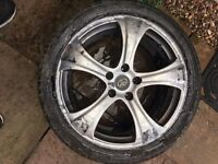 "20"" WHEELS + TYRES - GOOD CONDITION - NEED REFURB - BARGAIN !!"