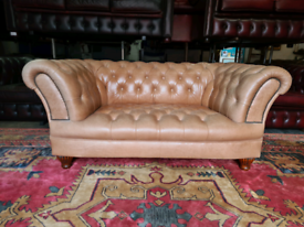Chesterfield Tan 2 Seater Sofa