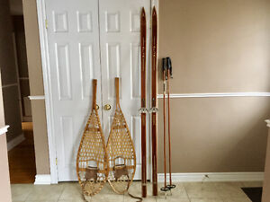 Rare Vintage ski's and snowshoes
