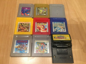 Pokemon Red, Blue, Gold, Silver + 5 more Game Boy Games!