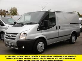 2012 FORD TRANSIT 260/125 TREND SWB LOW ROOF DIESEL VAN IN SILVER WITH ONLY 26.0