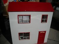 Wooden Doll House & furnishings