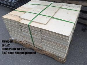 Retailles de plywood / contreplaqué