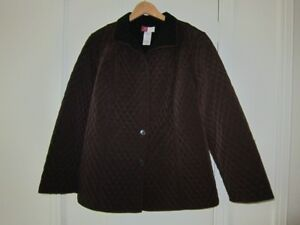 Women's Reversible Quilted Jacket, Size 20W