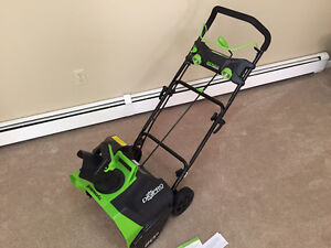 Greenworks Snowblower - 2 years old, never used