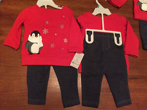 New! Carters 2 pc set Girls size 6 or 9 mths