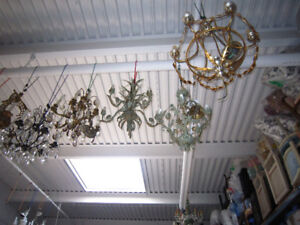 Vintage and Antique Hand Painted Ceiling Fixtures & Chandeliers