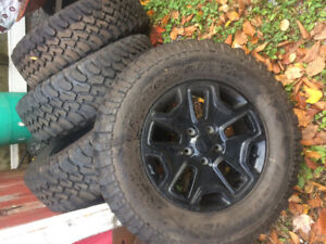 Rims an tires 4 255/75/r17 bf Goodrich mud terain