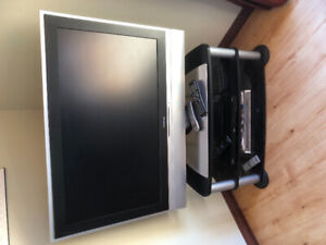 42 inch flat screen tv with stand and Sony DVD