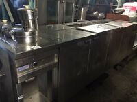RESTAURANT SALAD TABLE WITH FOOD WARMER FOR SALE