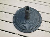 Patio umbrella stand - wrought iron