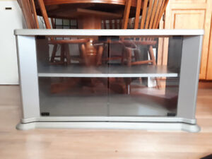 TV Stand with glass shelve doors