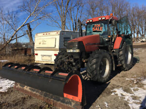 Case 135 Tractor with 11' Snow Plow