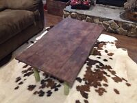 Antique drop leaf turned coffee table!
